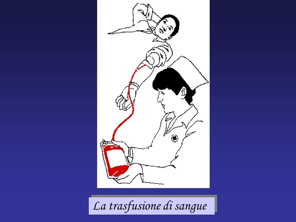 La trasfusione di sangue