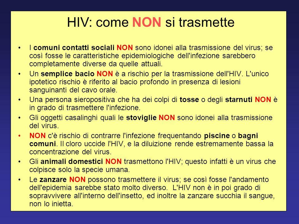 HIV: come NON si trasmette