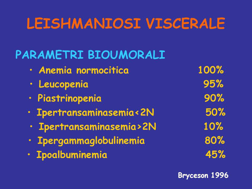 LEISHMANIOSI VISCERALE