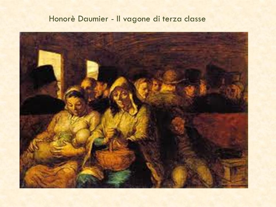 Honorè Daumier - Il vagone di terza classe