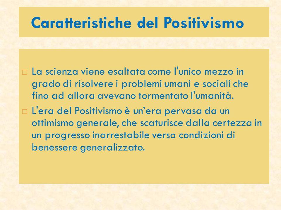 Caratteristiche del Positivismo