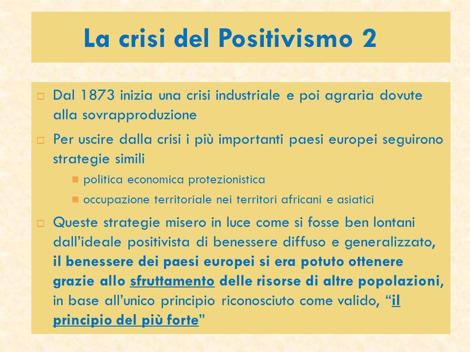 La crisi del Positivismo 2