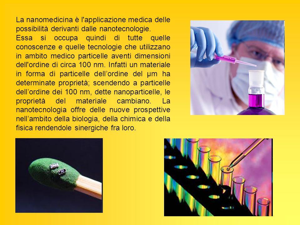 La nanomedicina è l applicazione medica delle possibilità derivanti dalle nanotecnologie.