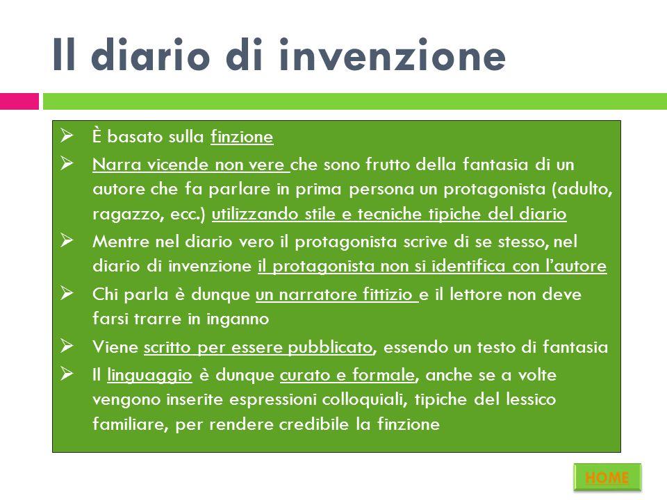 Il diario di invenzione