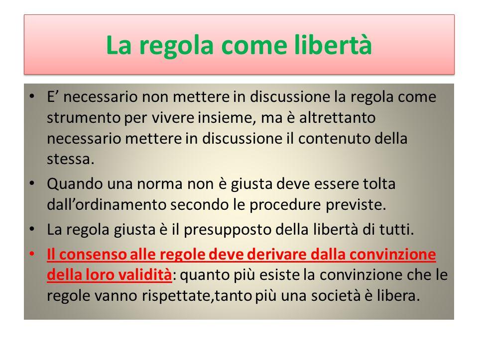 La regola come libertà