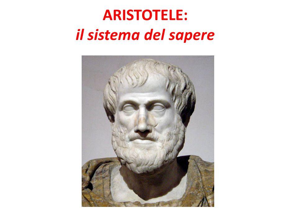 ARISTOTELE: il sistema del sapere