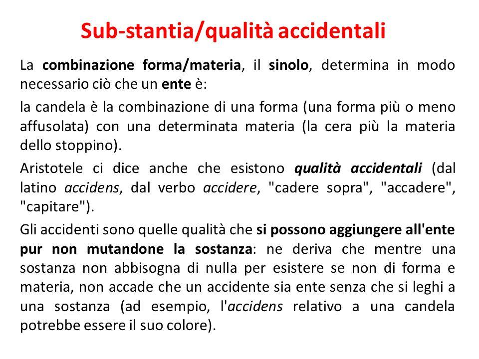 Sub-stantia/qualità accidentali