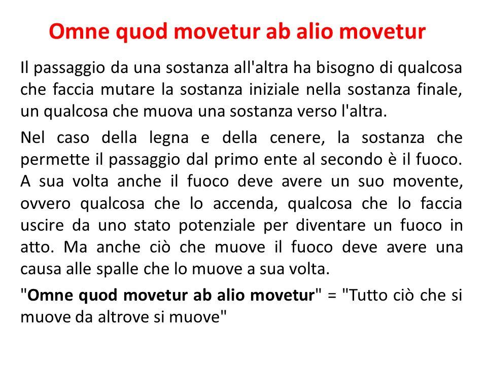 Omne quod movetur ab alio movetur