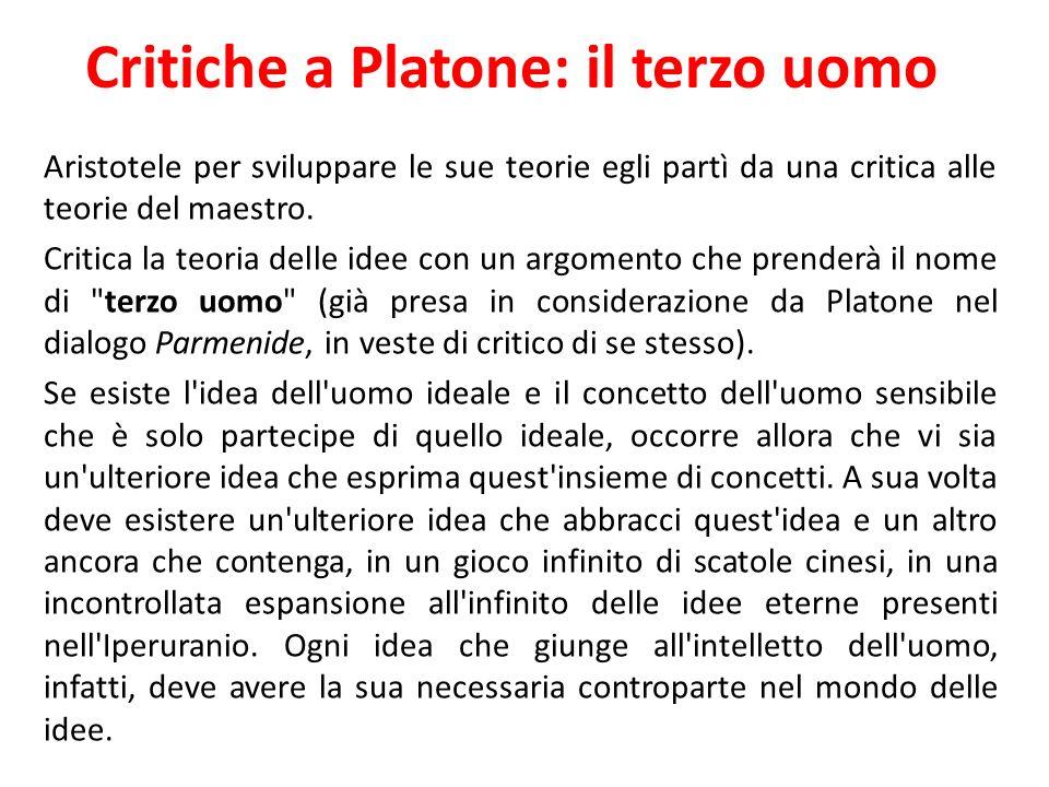 Critiche a Platone: il terzo uomo