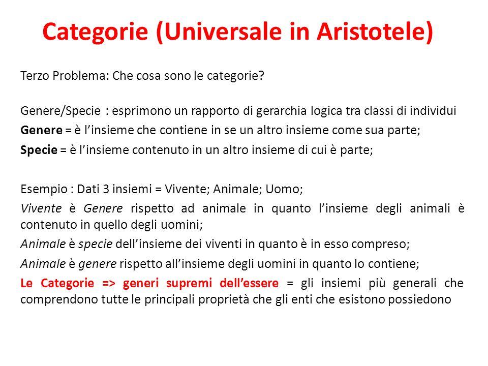 Categorie (Universale in Aristotele)