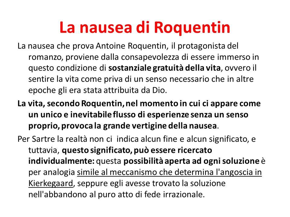 La nausea di Roquentin
