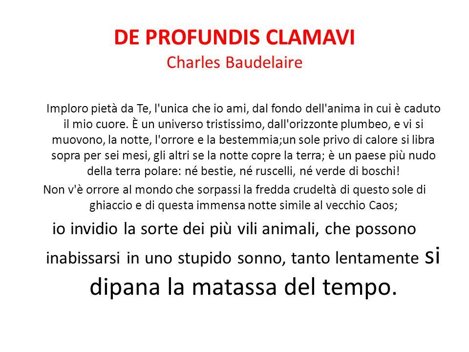 DE PROFUNDIS CLAMAVI Charles Baudelaire