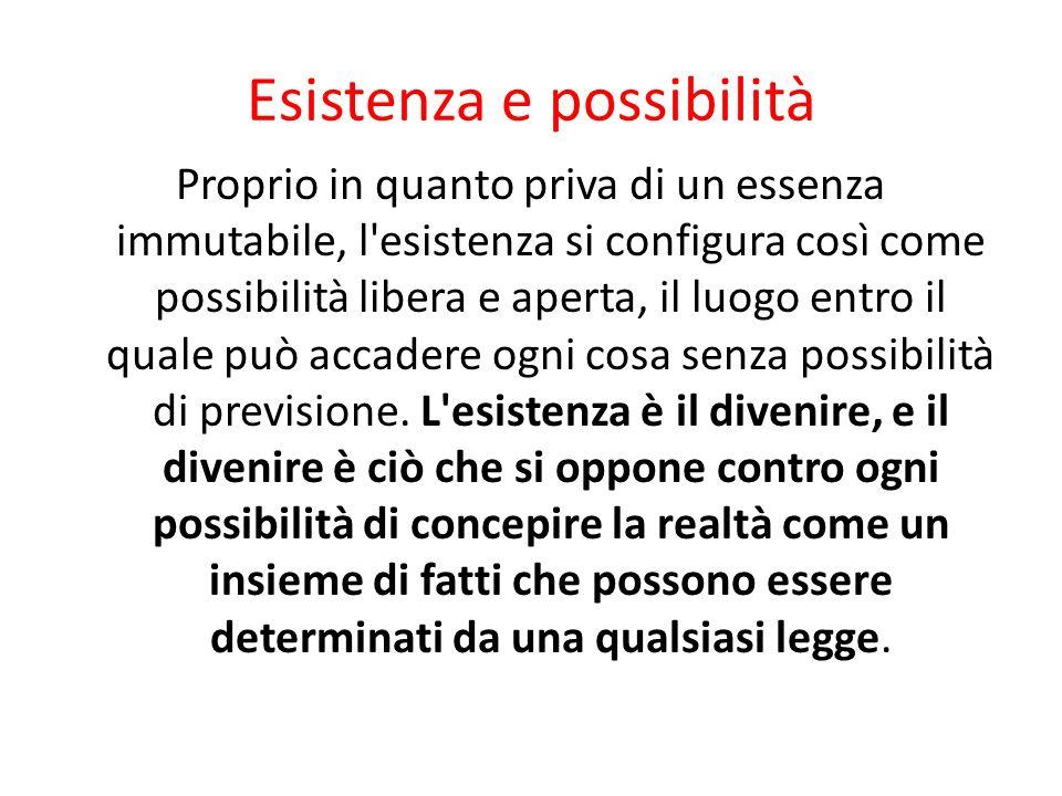 Esistenza e possibilità