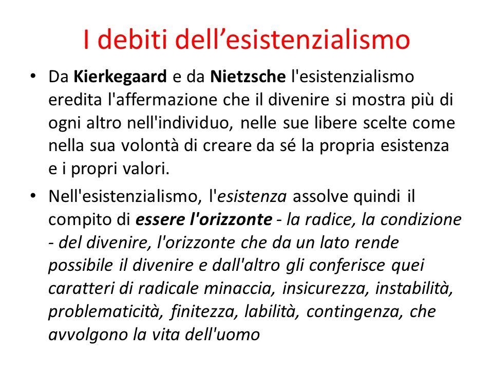 I debiti dell'esistenzialismo
