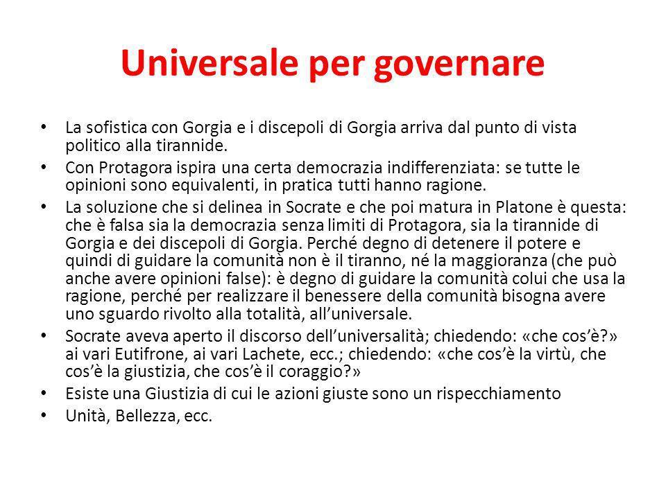 Universale per governare