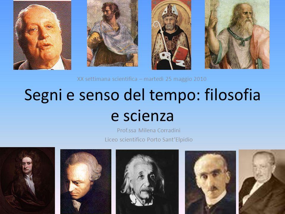Segni e senso del tempo: filosofia e scienza