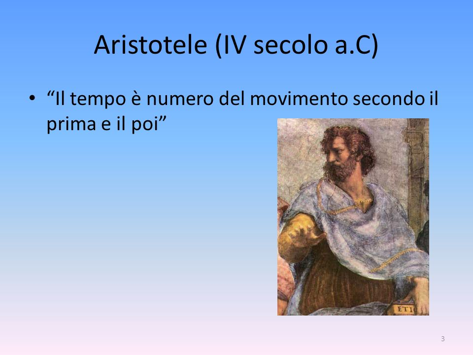 Aristotele (IV secolo a.C)