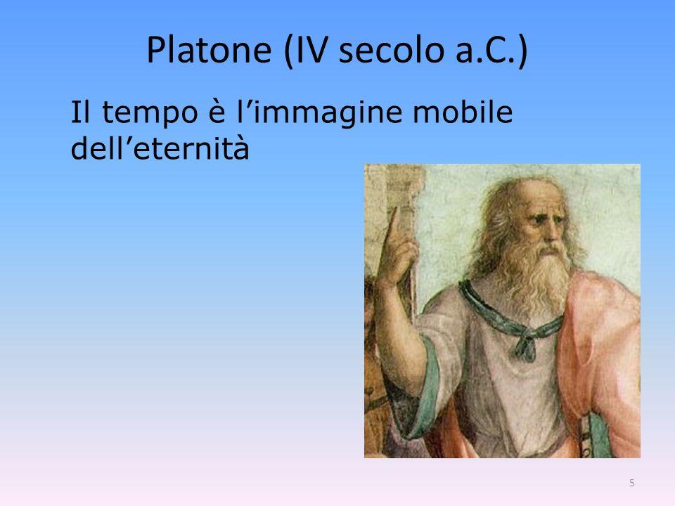 Platone (IV secolo a.C.) Il tempo è l'immagine mobile dell'eternità