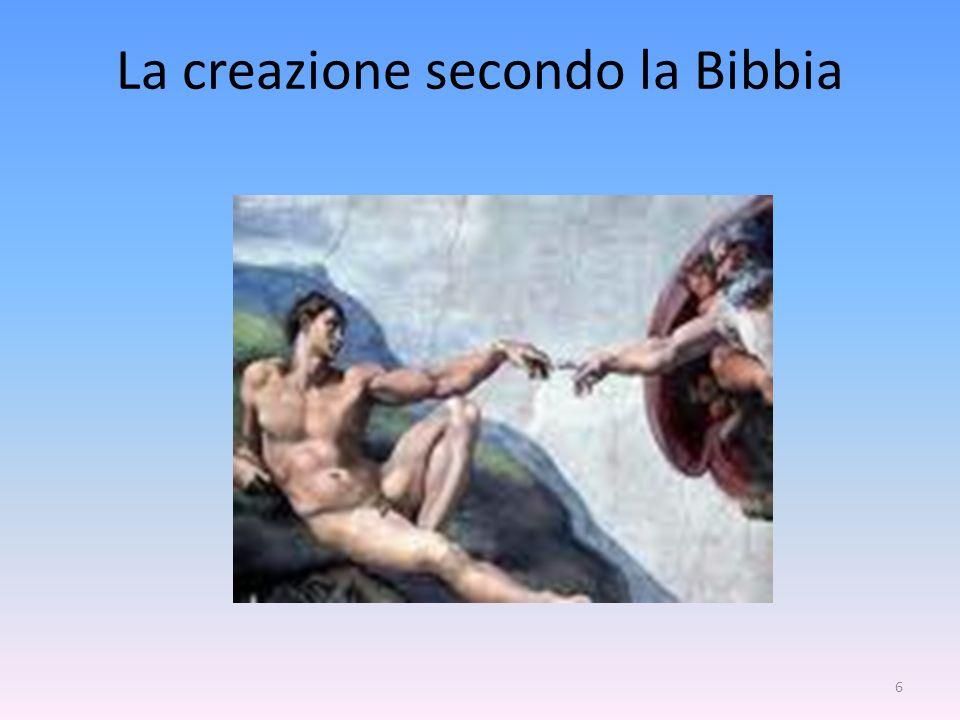 La creazione secondo la Bibbia