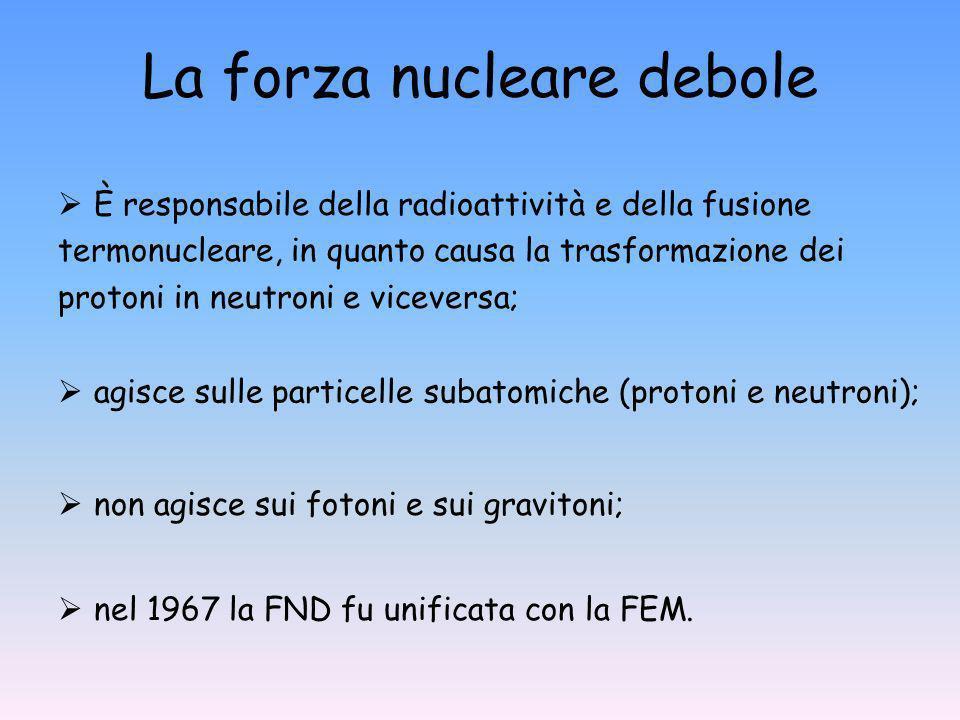 La forza nucleare debole