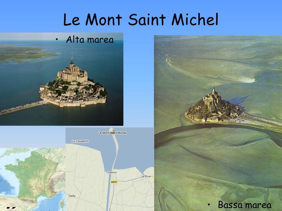 Le Mont Saint Michel Alta marea Bassa marea