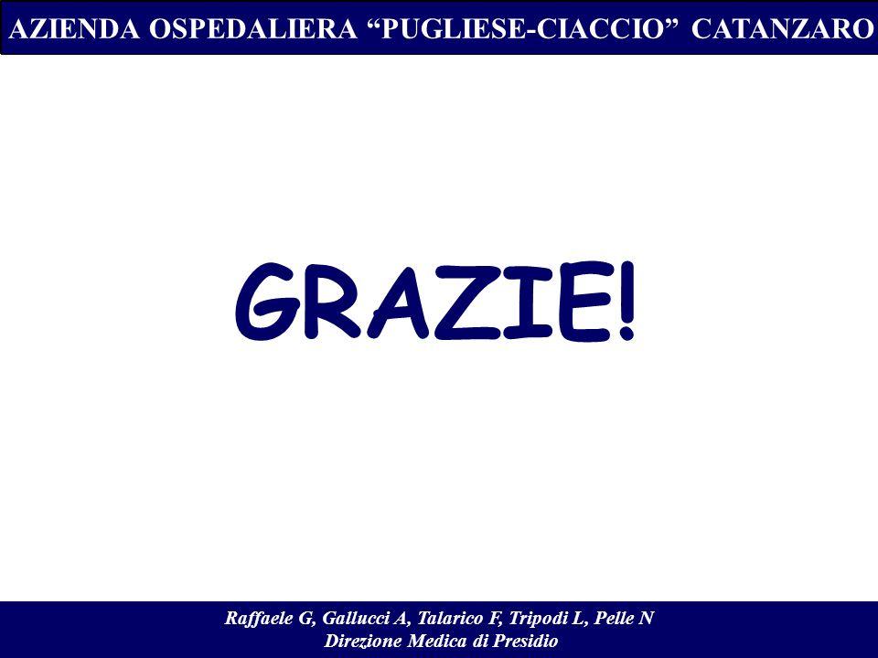 GRAZIE! AZIENDA OSPEDALIERA PUGLIESE-CIACCIO CATANZARO