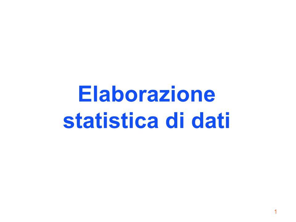 Elaborazione statistica di dati