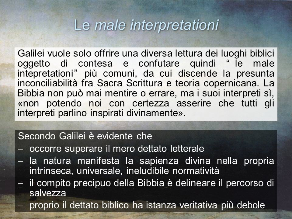 Le male interpretationi