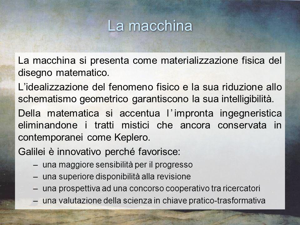 La macchina La macchina si presenta come materializzazione fisica del disegno matematico.
