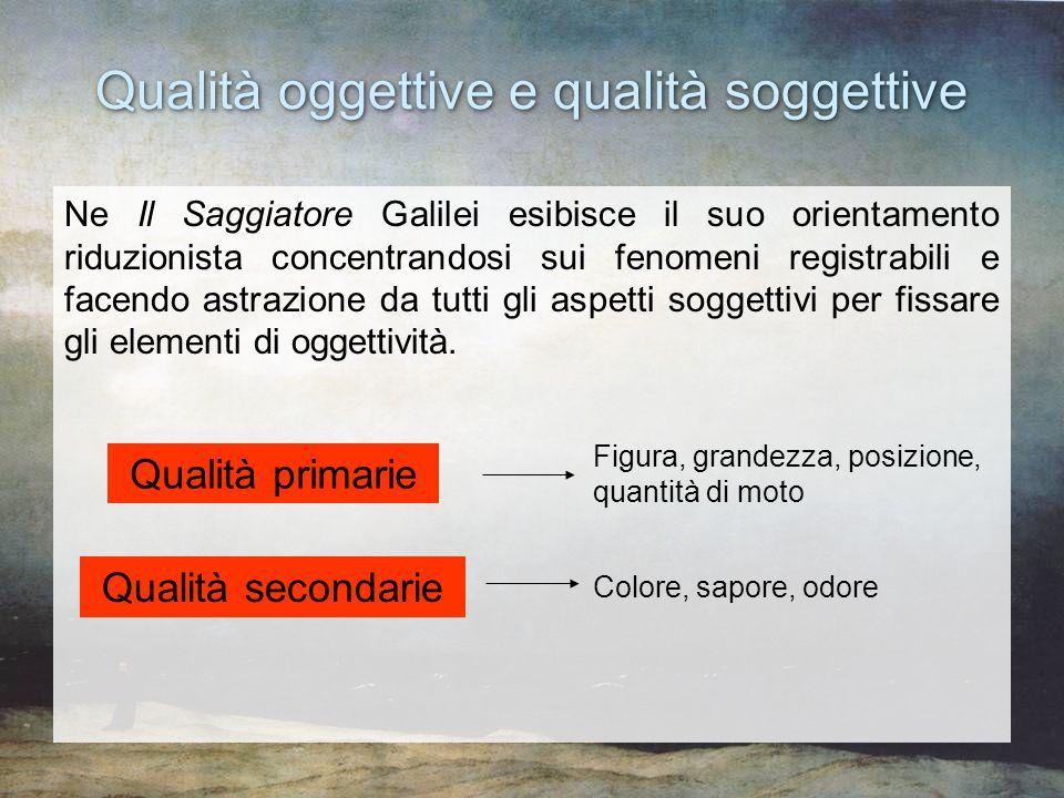 Qualità oggettive e qualità soggettive
