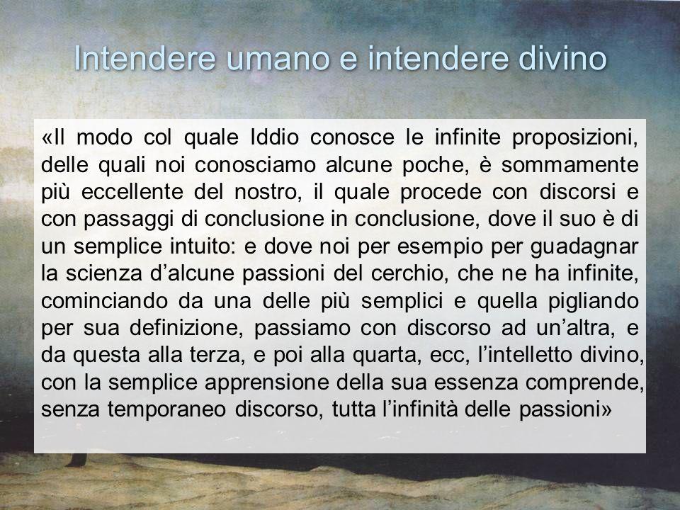 Intendere umano e intendere divino