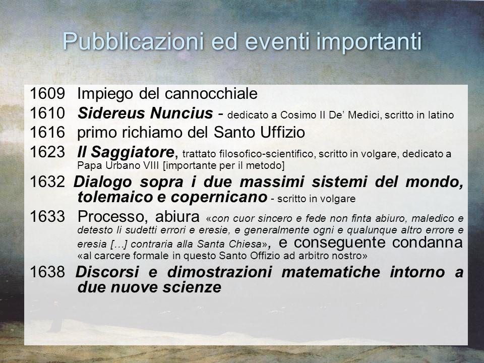 Pubblicazioni ed eventi importanti