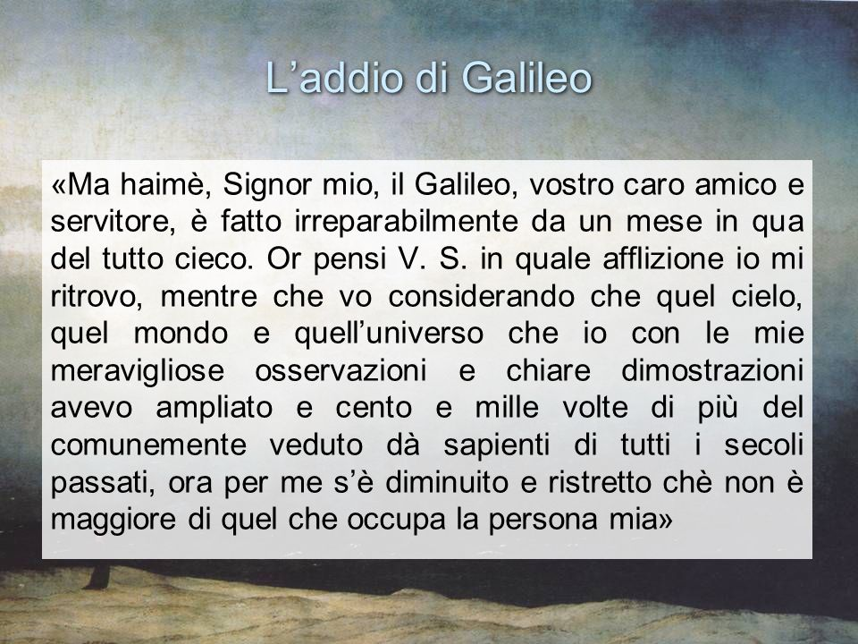 L'addio di Galileo
