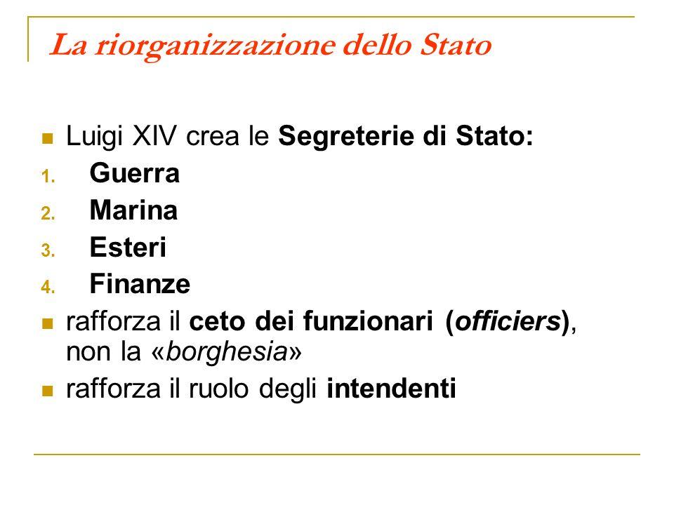La riorganizzazione dello Stato