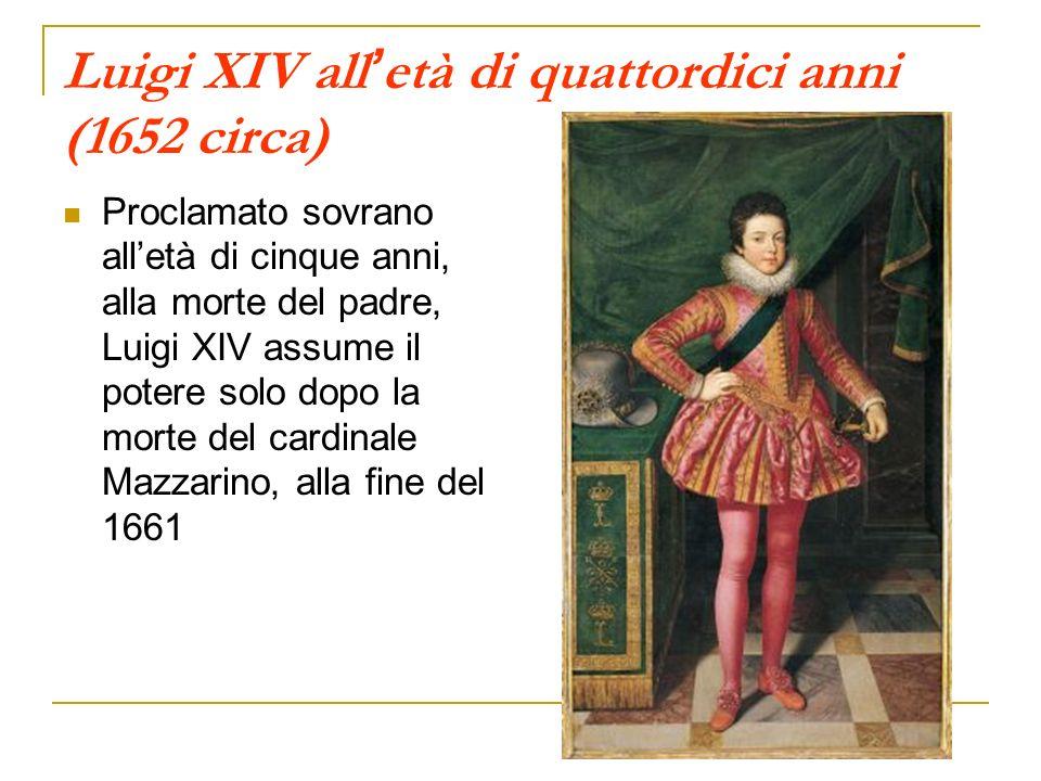 Luigi XIV all'età di quattordici anni (1652 circa)