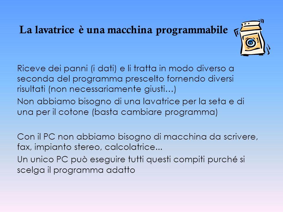 La lavatrice è una macchina programmabile