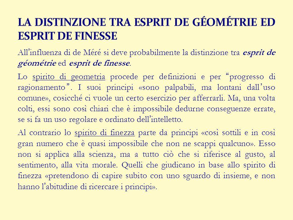 LA DISTINZIONE TRA ESPRIT DE GÉOMÉTRIE ED ESPRIT DE FINESSE