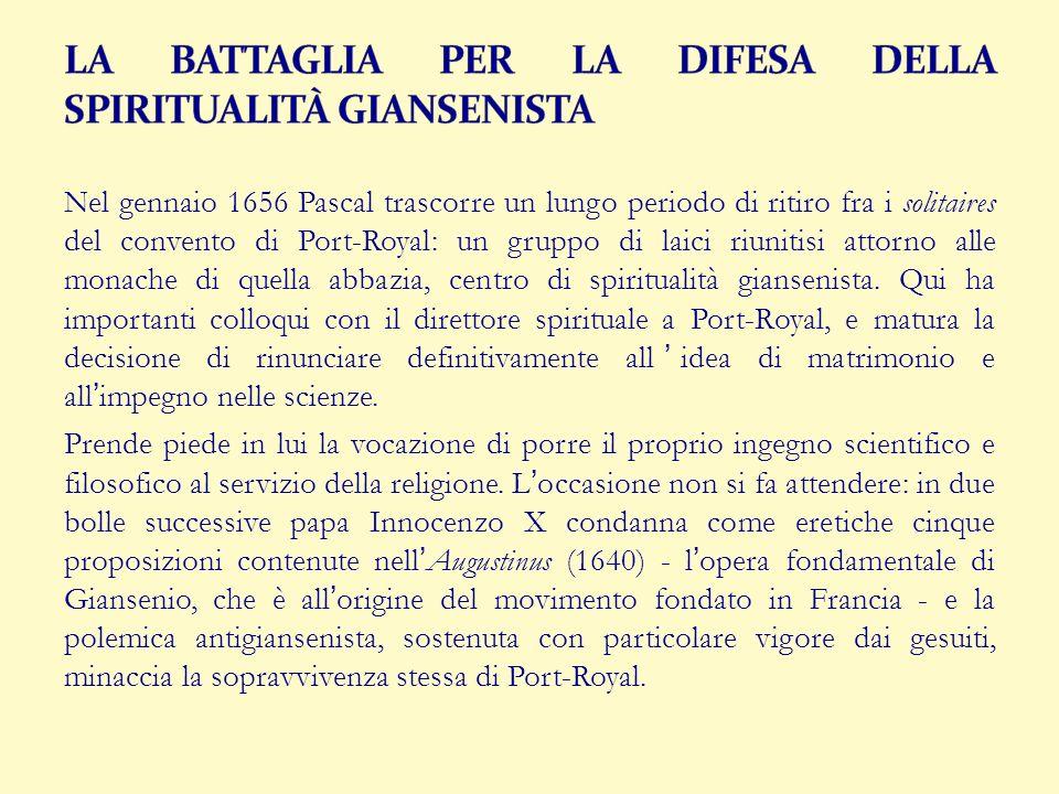 LA BATTAGLIA PER LA DIFESA DELLA SPIRITUALITÀ GIANSENISTA
