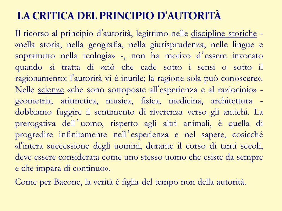 LA CRITICA DEL PRINCIPIO D'AUTORITÀ