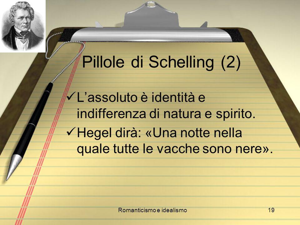 Pillole di Schelling (2)