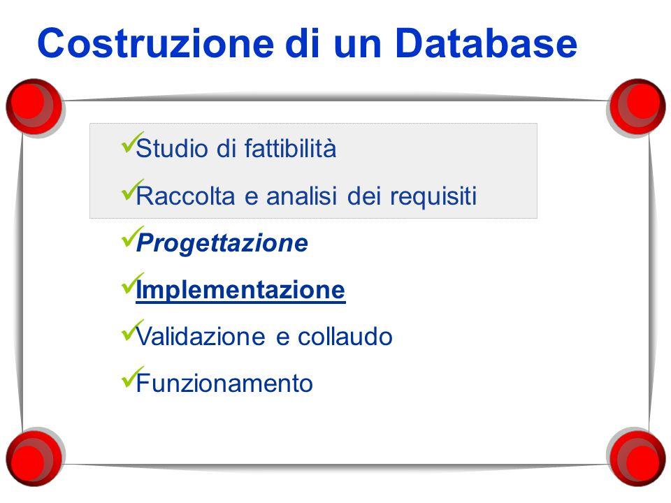 Costruzione di un Database