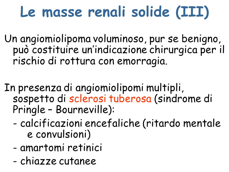 Le masse renali solide (III)