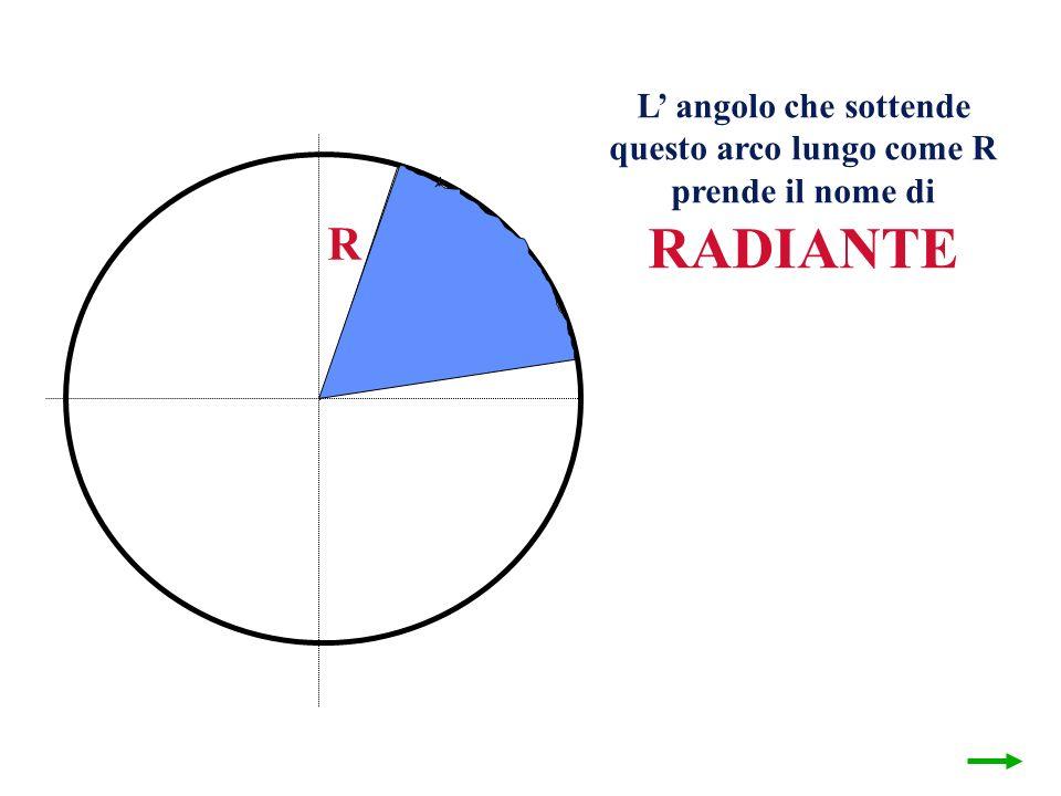 questo arco lungo come R