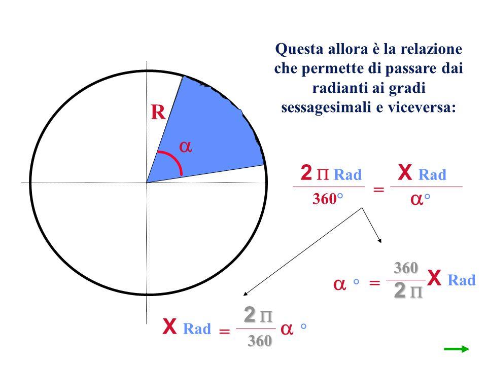 R  2  Rad X Rad ° X Rad ° 2  2  X Rad ° = = =