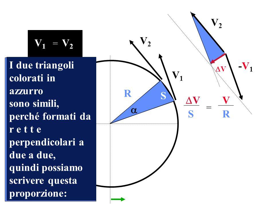 I due triangoli colorati in azzurro
