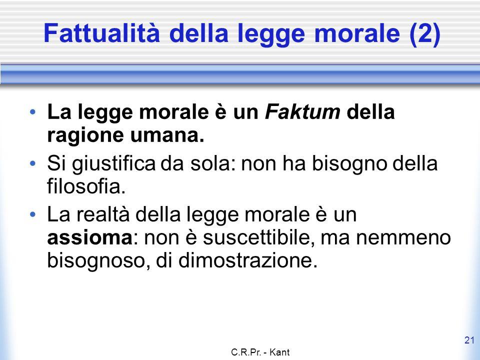 Fattualità della legge morale (2)