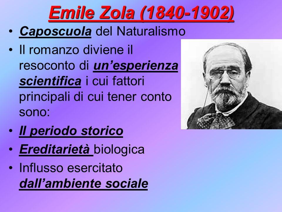 Emile Zola (1840-1902) Caposcuola del Naturalismo