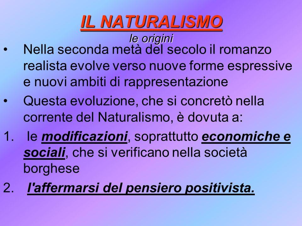 IL NATURALISMO le origini