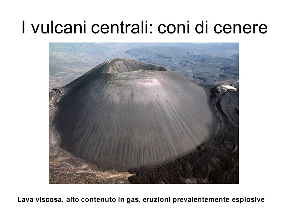 I vulcani centrali: coni di cenere