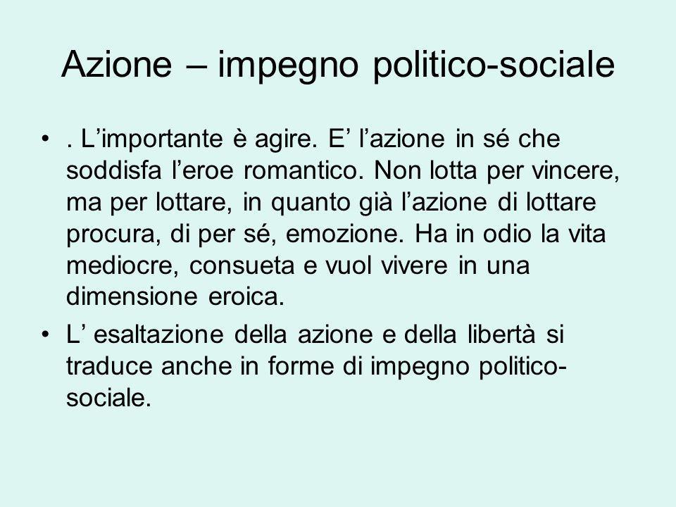 Azione – impegno politico-sociale